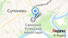 Свято-Успенский Свенский мужской монастырь на карте