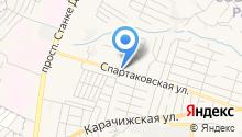 Автомойка на Спартаковской на карте
