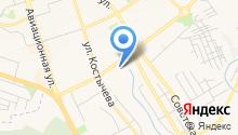 Автостоянка на ул. Крахмалёва на карте