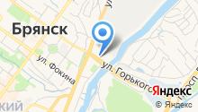 Автошкола города Брянска на карте