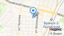 Автостоянка на Полесской на карте