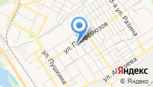 Автостоянка на ул. Профсоюзов на карте