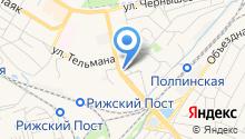 Автостоянка на ул. Рылеева на карте