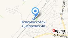 Вокзал Новомосковськ-Дніпровський на карте