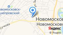 Новомосковське управління по експлуатації газового господарства на карте
