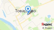 Товарковский газовый участок на карте