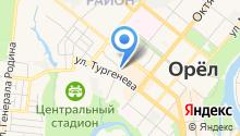 Автостоянка на ул. Тургенева на карте