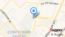 Автостоянка на Лескова на карте