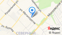 Ателье на ул. Металлургов на карте