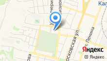 Автостоянка на ул. Пухова на карте