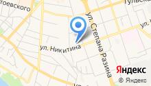 Автостоянка на ул. Никитина на карте