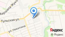Автостоянка в Тульском 2-ом переулке на карте