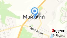 Почтовое отделение пос. Майский на карте