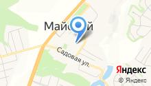 Майская гимназия на карте
