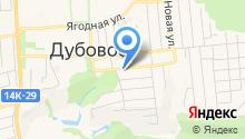 Автостекольная мастерская в Дубовом на карте