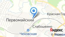 Первомайская средняя общеобразовательная школа на карте