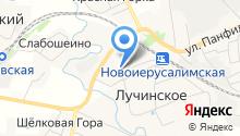 Лучинская средняя общеобразовательная школа на карте