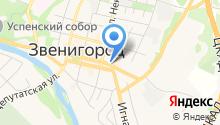 Деловой Звенигород на карте