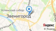 Центральный на карте