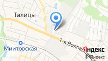 Магазин на Волоколамской 1-й на карте