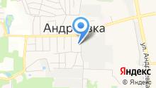 Андреевка, МУК на карте