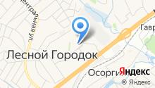 Лесной городок на карте