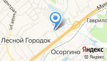 Пенная на карте