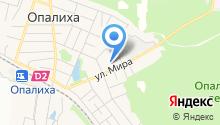 Опалиховская гимназия на карте