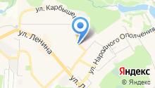 Магазин зоотоваров на ул. Карбышева на карте
