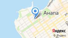 Анапский берег на карте