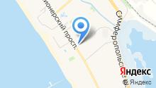 Анапа Лазурная на карте