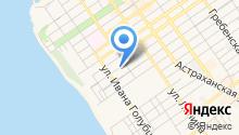 Гостевой дом на ул. Тургенева на карте