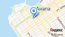 Анапский туристический центр на карте