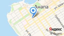 Анапа-Сити, служба бронирования гостиниц на карте