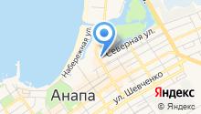 Анапа-Интур на карте