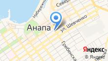 Анапа-лазурная на карте