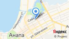 Анапская на карте