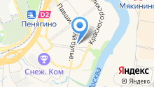 Заводской бар на карте