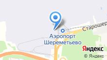 Воздушный экспресс Шереметьево на карте