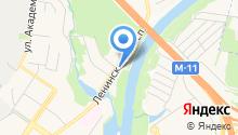 Жилой комплекс на Ленинском проспекте на карте