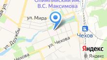 Чеховская городская поликлиника на карте