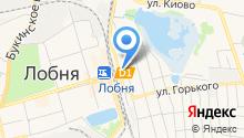 Линейный отдел МВД России на железнодорожной станции Лобня на карте