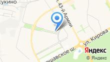 Белаж на карте