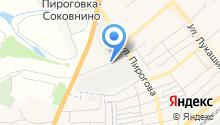 Автостоянка на ул. Пирогова на карте
