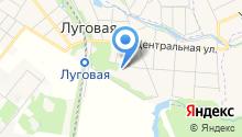 Луговская средняя общеобразовательная школа на карте