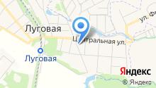Луговская библиотека на карте