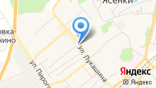 Магазин овощей на ул. Лукашина на карте
