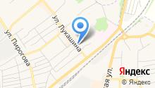 Визитка Щёкино на карте