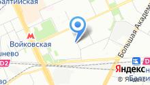 2-й Новоподмосковный на карте