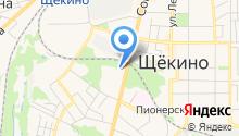Центр занятости населения г. Щёкино на карте